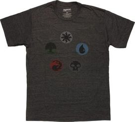 Magic The Gathering Mana Group Heather T-Shirt