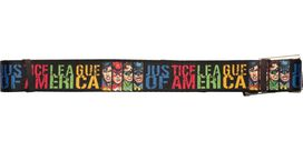 Justice League of America Faces Rectangles Mesh Belt