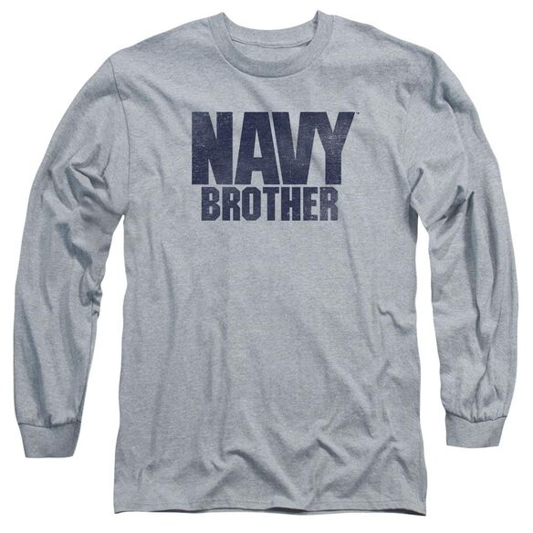 Navy Brother Long Sleeve Adult Athletic T-Shirt