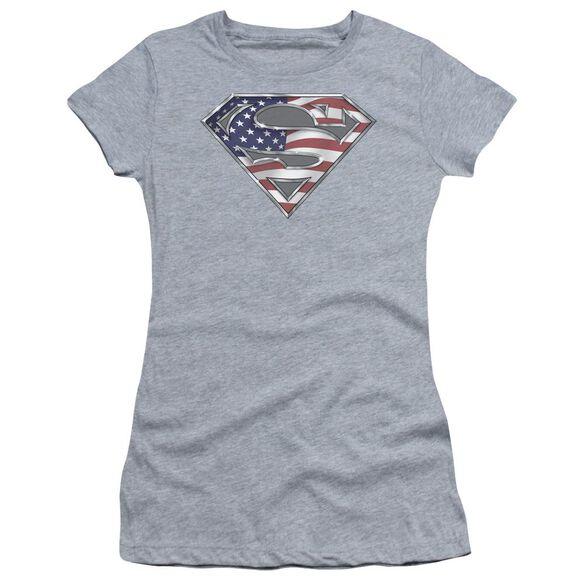 Superman All Short Sleeve Junior Sheer Athletic T-Shirt