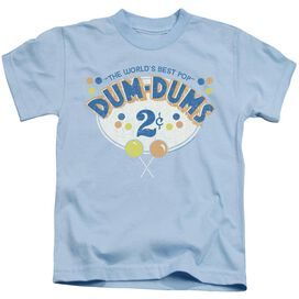 Dum Dums 2 Cents Short Sleeve Juvenile Light Blue T-Shirt