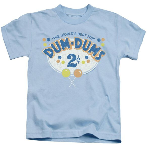 Dum Dums 2 Cents Short Sleeve Juvenile Light Blue T-Shirt