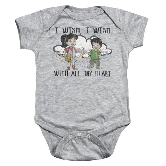 Dragon Tales I Wish With All My Heart Infant Snapsuit Athletic Heather
