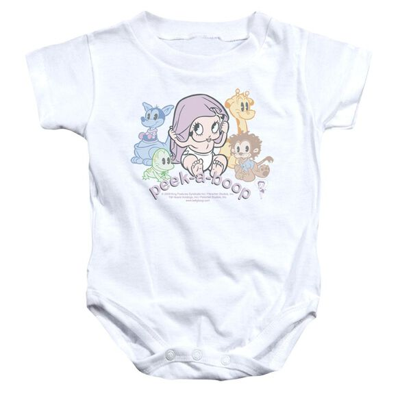 Betty Boop Peek A Boo Infant Snapsuit White Xl