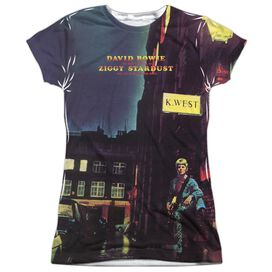 David Bowie Ziggy Star Dust Short Sleeve Junior Poly Crew T-Shirt