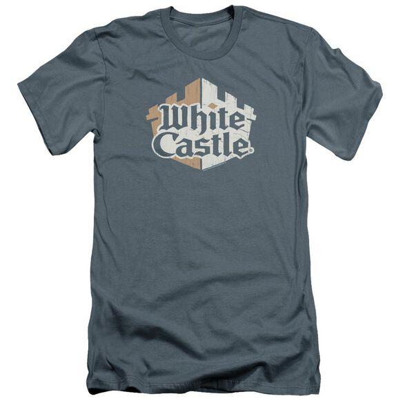 White Castle Torn Logo Premuim Canvas Adult Slim Fit