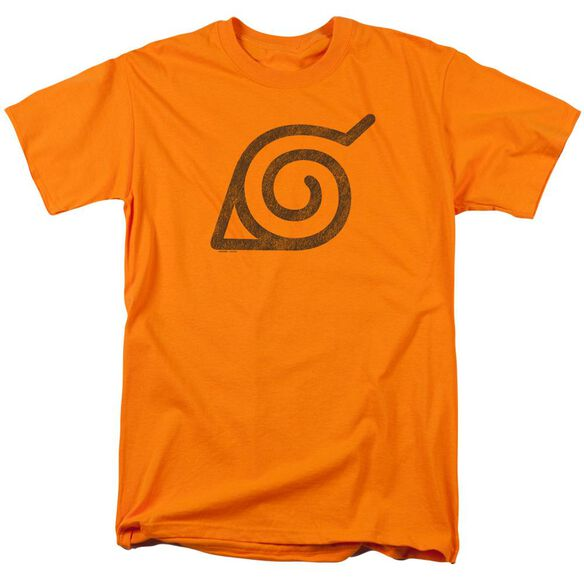 Naruto Shippuden Distressed Leaves Symbol Short Sleeve Adult T-Shirt
