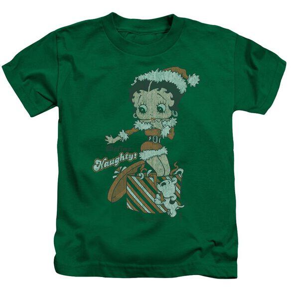 Betty Boop Define Naughty Short Sleeve Juvenile Kelly T-Shirt