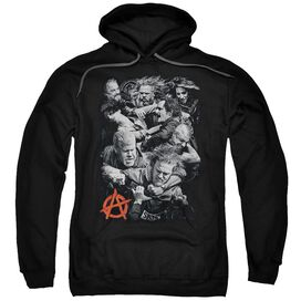 Sons Of Anarchy Group Fight Adult Pull Over Hoodie Black