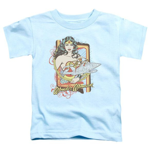 Dc Invisible Jet Short Sleeve Toddler Tee Light Blue Sm T-Shirt
