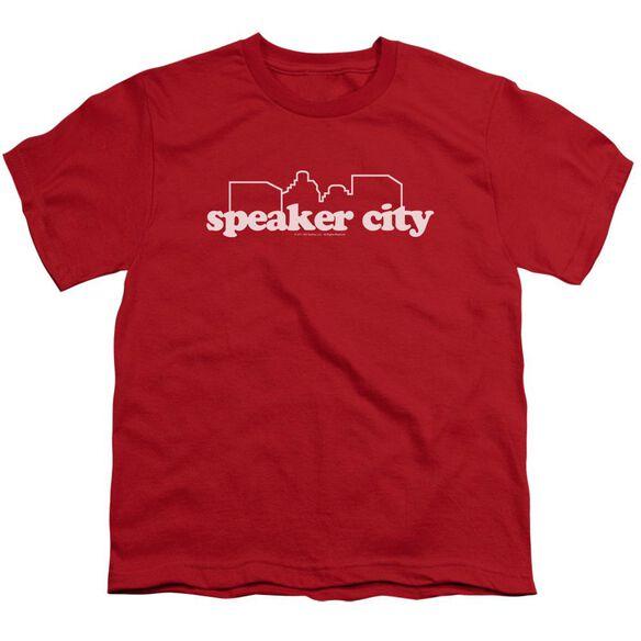 Old School Speaker City Logo Short Sleeve Youth T-Shirt