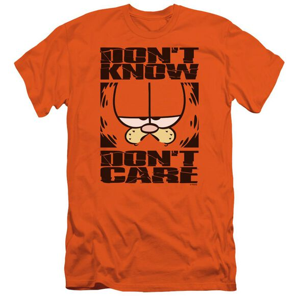 Garfield Dont Know Dont Care Short Sleeve Adult T-Shirt