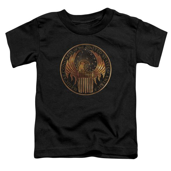 Fantastic Beasts Magical Congress Crest Short Sleeve Toddler Tee Black T-Shirt