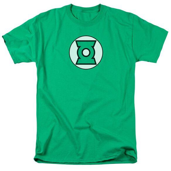 Jla Lantern Logo Short Sleeve Adult Kelly T-Shirt