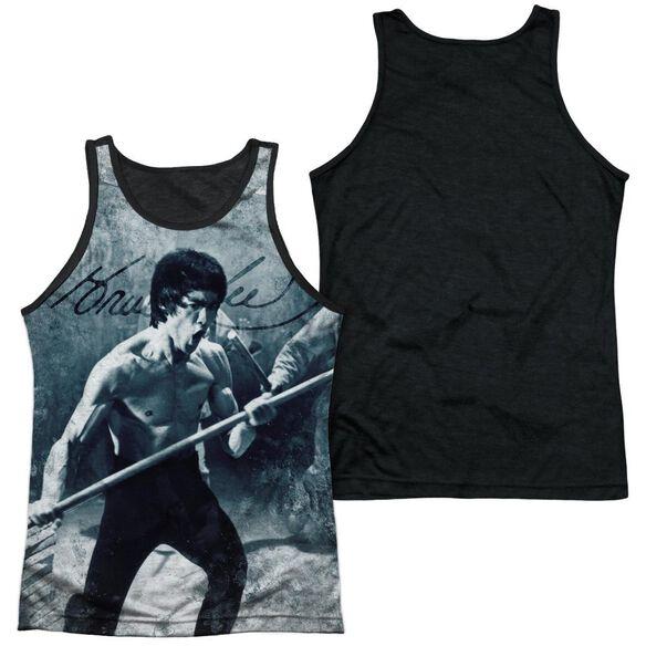 Bruce Lee Whoooaa Adult Poly Tank Top Black Back