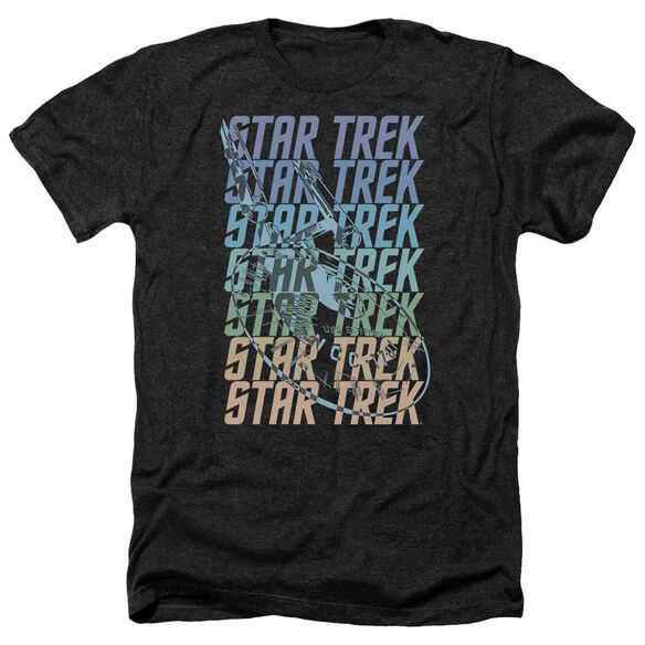Star Trek Multi Logo Enterprise Adult Heather