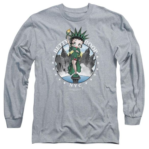Betty Boop Nyc Long Sleeve Adult Athletic T-Shirt