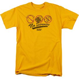 FAST TIMES RIDGEMONT HIGH NO SERVICE - S/S ADULT 18/1 - GOLD - 4X - GOLD T-Shirt