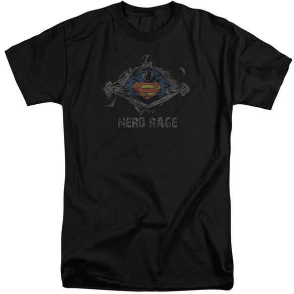 Superman Nerd Rage Short Sleeve Adult Tall T-Shirt