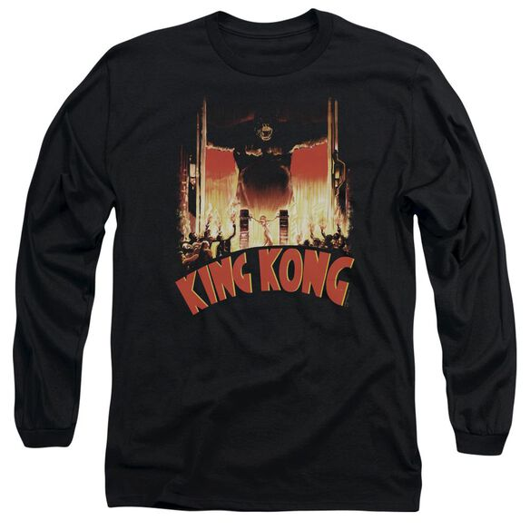 King Kong At The Gates Long Sleeve Adult T-Shirt