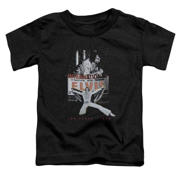 Elvis Las Vegas Short Sleeve Toddler Tee Black Lg T-Shirt