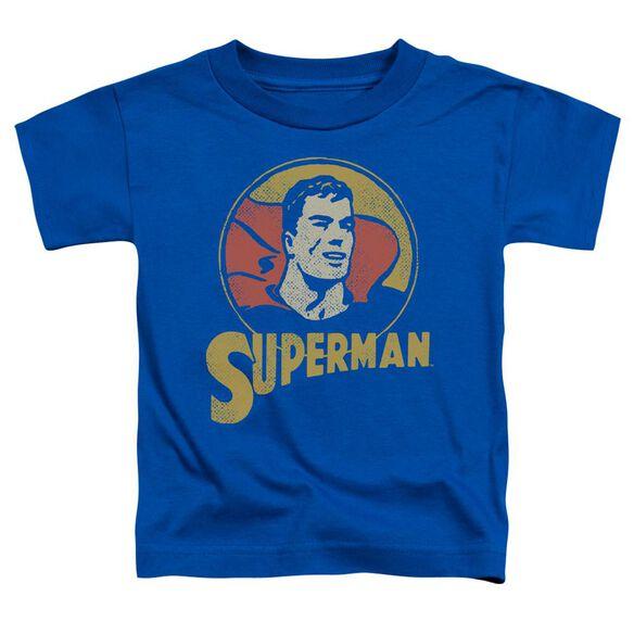 Dc Super Circle Short Sleeve Toddler Tee Royal Blue T-Shirt
