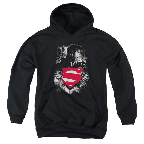 Superman Darkest Hour Youth Pull Over Hoodie