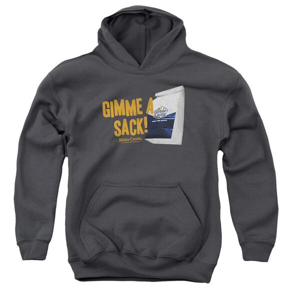 White Castle Gimmie A Sack Youth Pull Over Hoodie