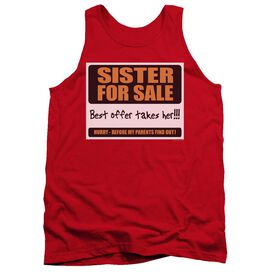 Sister For Sale - Adult Tank - Red