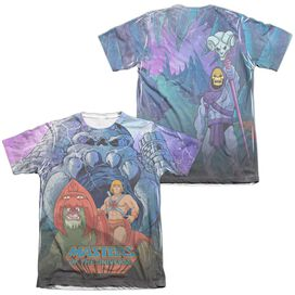 Masters Of The Universe Protecting Grayskull (Front Back Print) Adult Poly Cotton Short Sleeve Tee T-Shirt