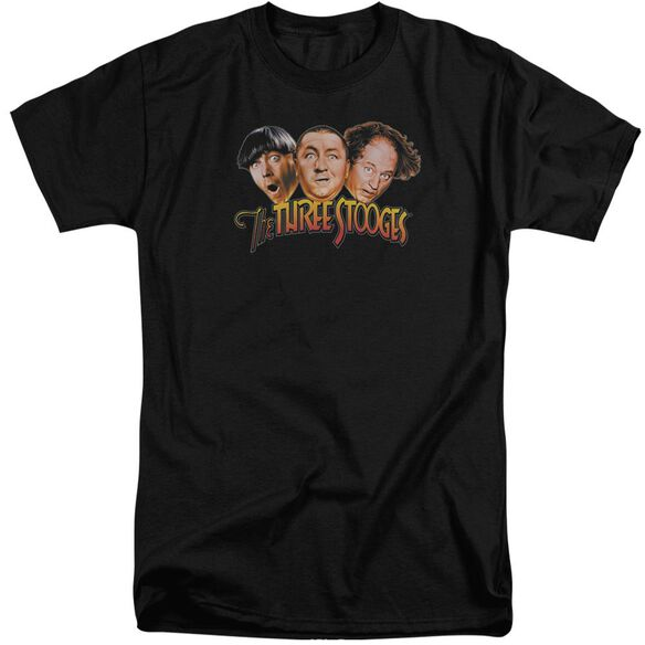 Three Stooges Three Head Logo Short Sleeve Adult Tall T-Shirt