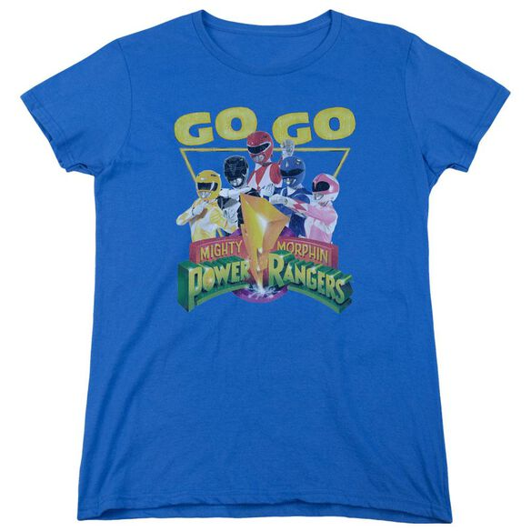 Power Rangers Go Go Short Sleeve Womens Tee Royal T-Shirt