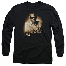 Ray Charles Sepia Long Sleeve Adult T-Shirt