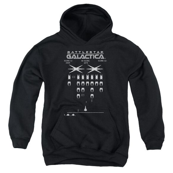 Bsg Galactic Invaders Youth Pull Over Hoodie