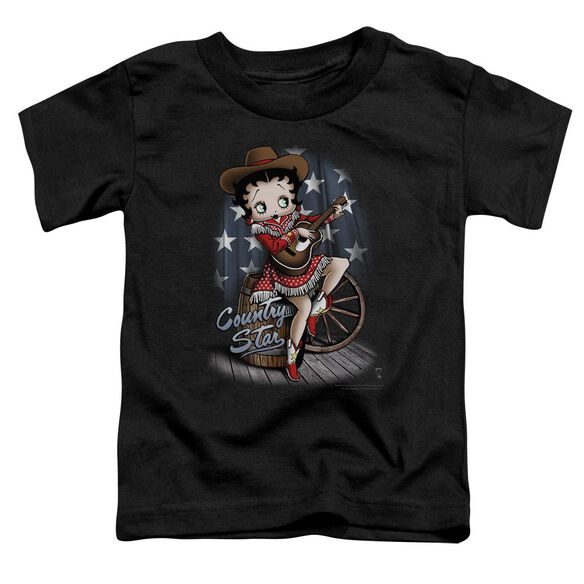 Betty Boop Country Star Short Sleeve Toddler Tee Black Lg T-Shirt