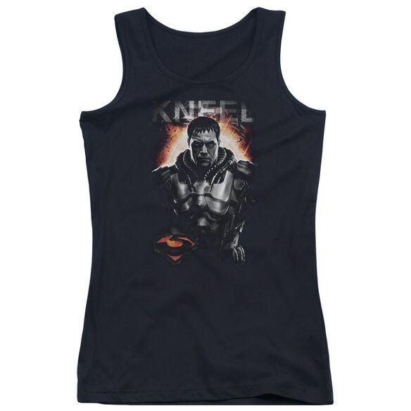 Man Of Steel Kneel Juniors Tank Top