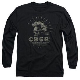 Cbgb Electric Skull Long Sleeve Adult T-Shirt