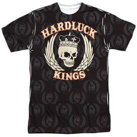 Hardluck Kings Pattern Short Sleeve Adult Poly Crew T-Shirt