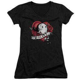 Popeye Olive Tattoo Junior V Neck T-Shirt