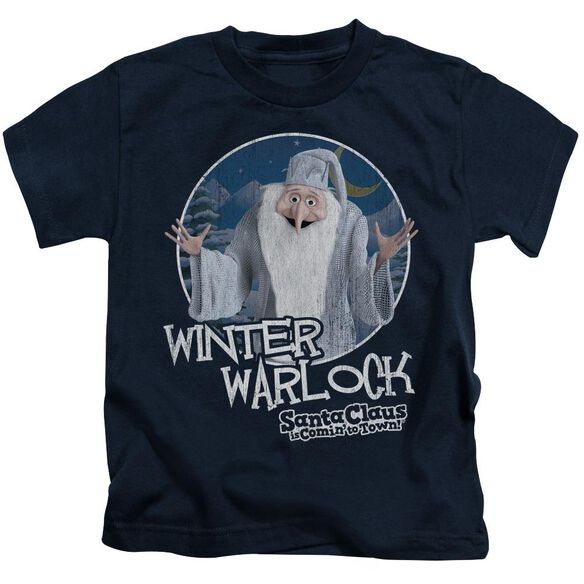 Santa Claus Is Comin To Town Winter Warlock Short Sleeve Juvenile T-Shirt