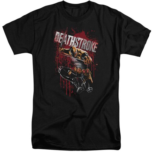 Jla Blood Splattered Short Sleeve Adult Tall T-Shirt