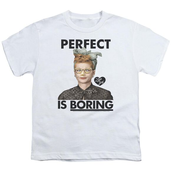 I Love Lucy Perfect Is Boring Short Sleeve Youth T-Shirt