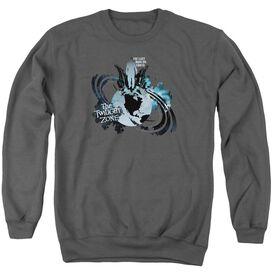 Twilight Zone Last Man On Earth - Adult Crewneck Sweatshirt - Charcoal