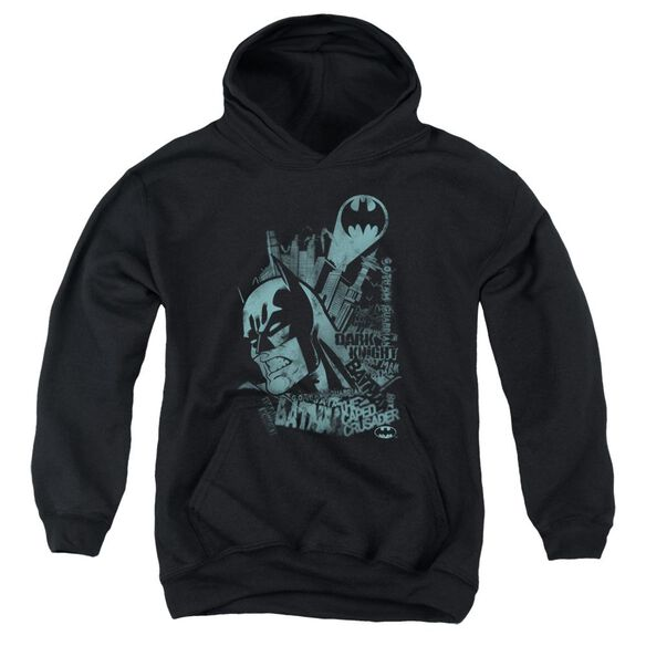 Batman Gritted Teeth Youth Pull Over Hoodie