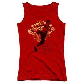 Bruce Lee Immortal Dragon - Juniors Tank Top - Red