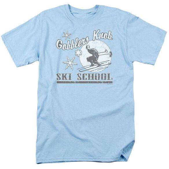 GOBBLERS KNOB SKI SCHOOL- ADULT 18/1 - LIGHT BLUE T-Shirt