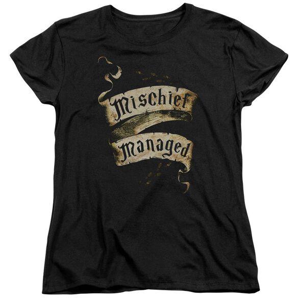 Harry Potter Mischief Managed Short Sleeve Womens Tee T-Shirt