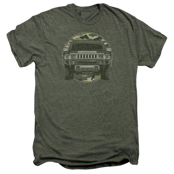 Hummer Lead Or Follow Short Sleeve Adult Premium Tee Moss T-Shirt
