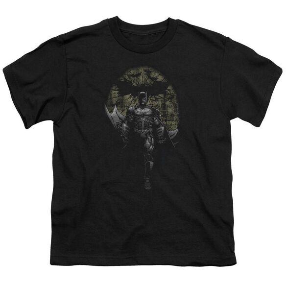 Dark Knight Rises Distressed Dark Knight Short Sleeve Youth T-Shirt