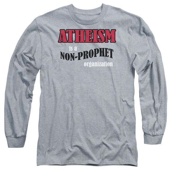 Atheism Long Sleeve Adult Athletic T-Shirt